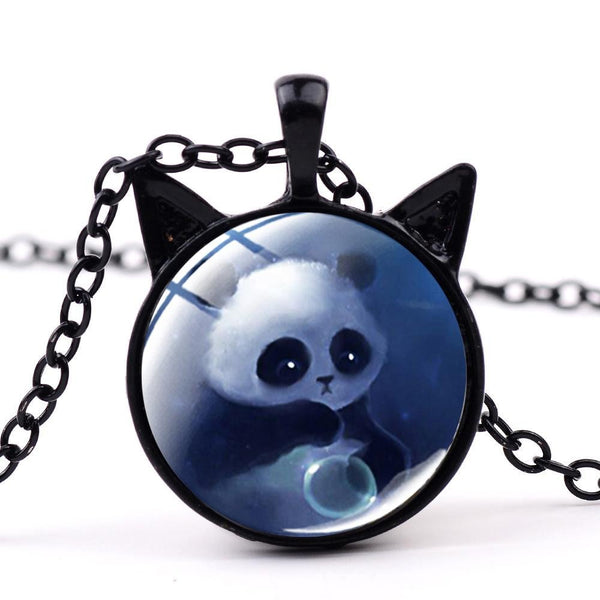 collier panda fantaisie