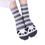 chaussettes panda taille moyenne hiver rayées