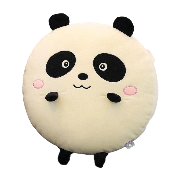 coussin rond panda