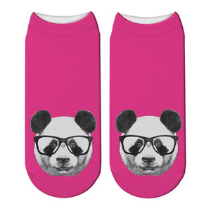 chaussettes ultra courtes roses flashy clair panda