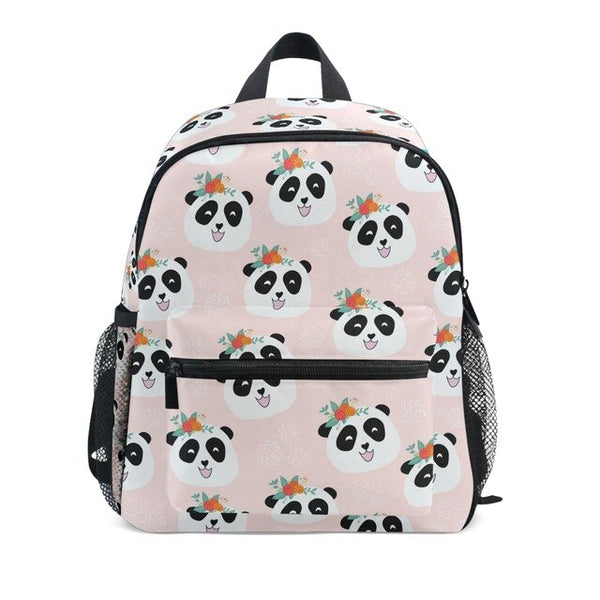 cartable panda sac rose pale