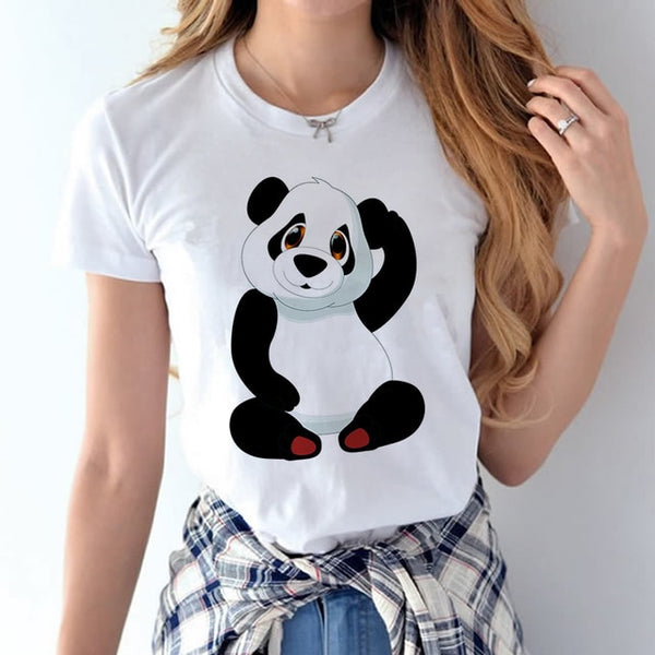 tee shirt panda aux paumes rouges