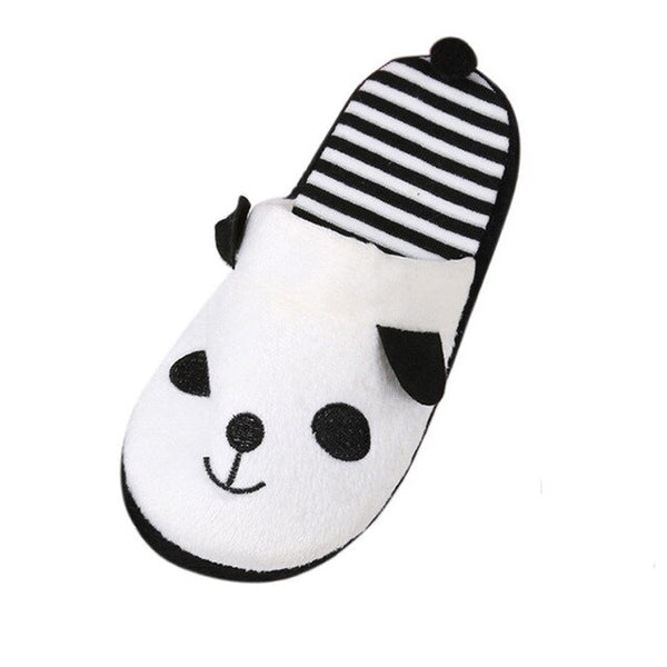 chaussons charentaises panda blanches