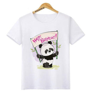 t-shirt panda happy birthday