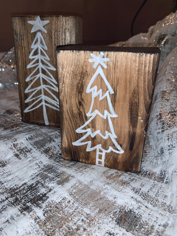 Mini  Reversible Wooden Trees