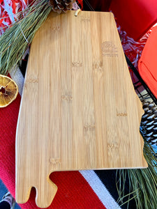 JSU Etched State Bamboo Serving Board