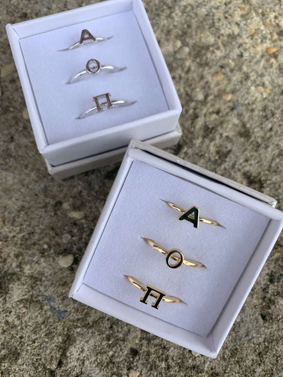 Alpha O Stackable Rings