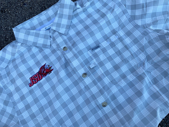 Columbia Grid Button-Up
