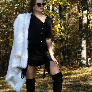 White Out Fur Coat