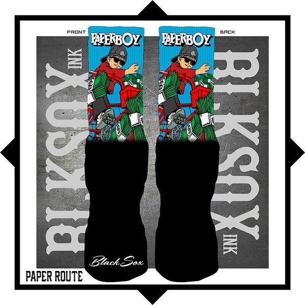 Paper Route Luxury Socks - Black Sox Ink