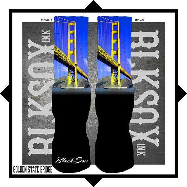 Golden State Bridge Luxury Socks - Black Sox Ink