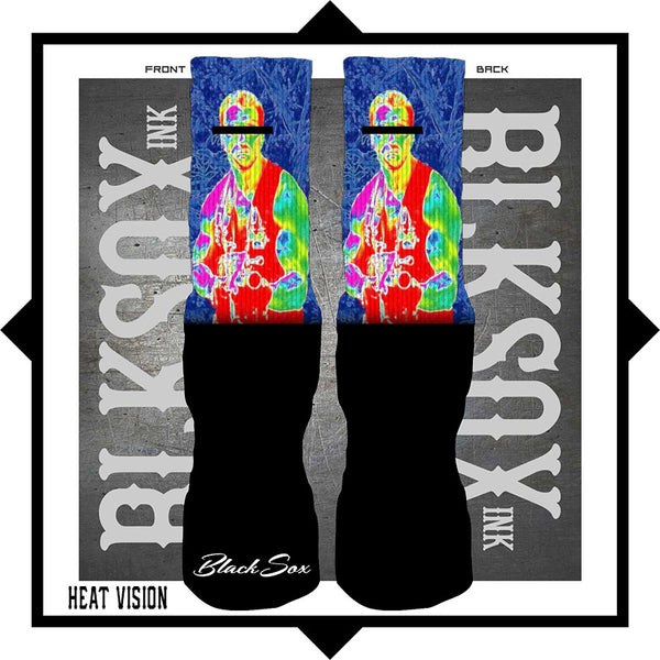 Heat Vision Luxury Socks - Black Sox Ink