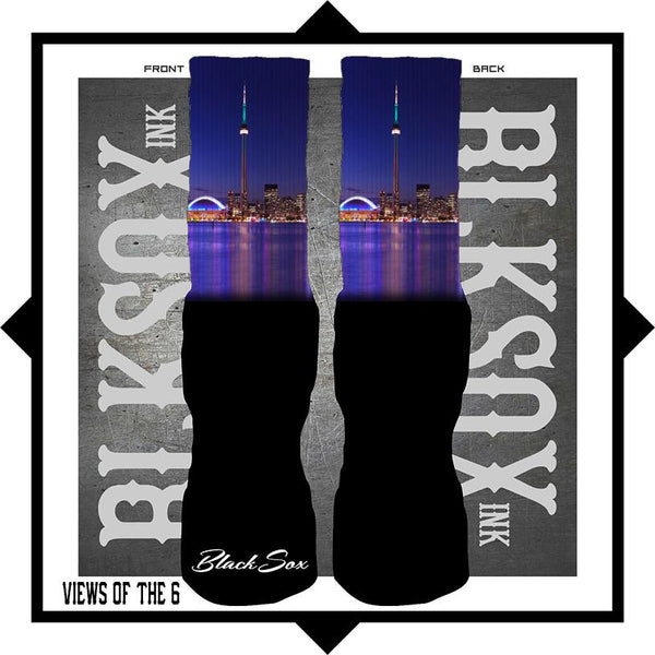 Views of the 6 All Star Luxury Socks - Black Sox Ink