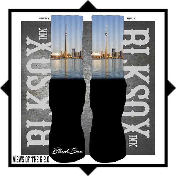 Views of the 6 All Star 2.0 Luxury Socks - Black Sox Ink
