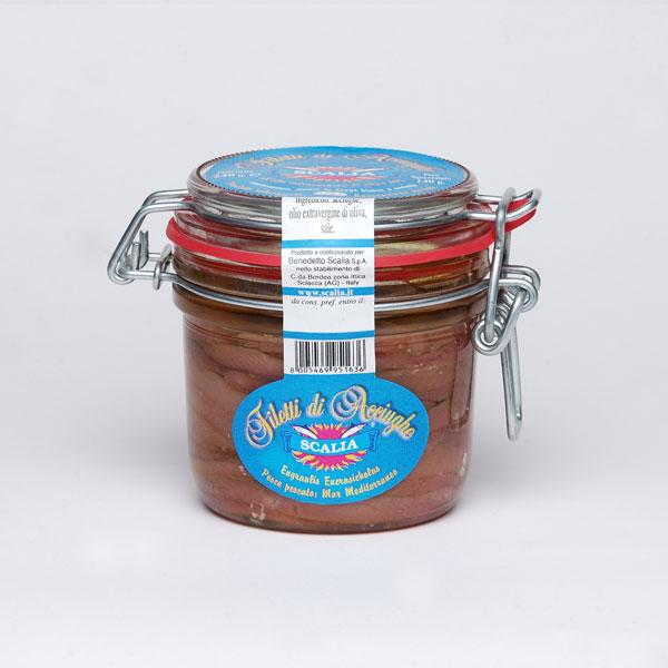 Scalia Anchovy Fillets in Extra Virgin Olive Oil, 8.4 oz