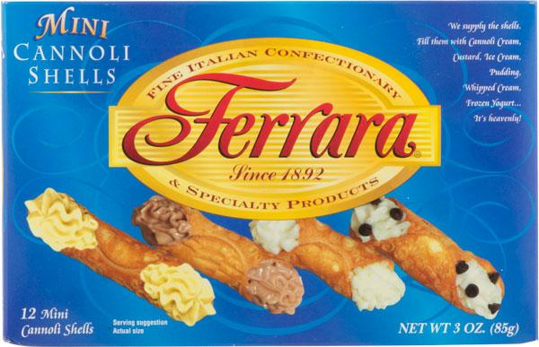 Ferrara Mini Cannoli Shells, 3 oz (12 Shells)