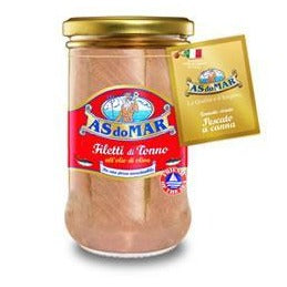 A'S do Mar Tuna Fillets in Olive Oil, 250g Jar