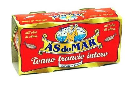 A'S do Mar Solid Tuna in Olive Oil - 2 x 100g can