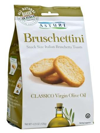 Asturi Bruschettini Toasts, Classico Virgin Olive Oil, 120g