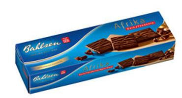 Bahlsen Afrika Wafers Coverd in Dark Chocolate, 130g