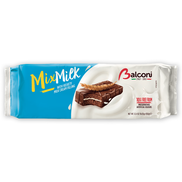 Balconi Mix Milk Cake, Cocoa and Milk Filling, 12.4 oz (350g)
