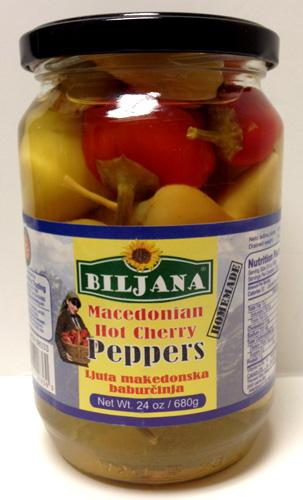 Biljana Macedonian Hot Cherry Peppers, 680g