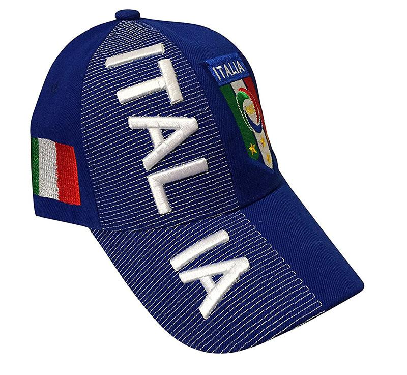 Blue Italia 3D Embroidery Hat
