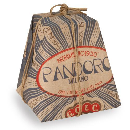Breramilano1930 TRADITIONAL PANDORO HAND WRAPPED, 1kg