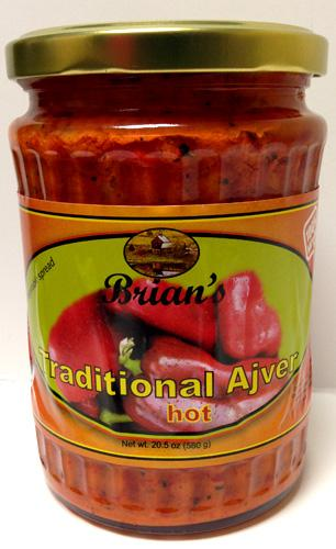 Brian's Traditional Ajver Hot, 580g