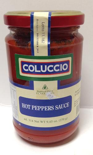 Coluccio Hot Peppers Sauce 9.45 oz