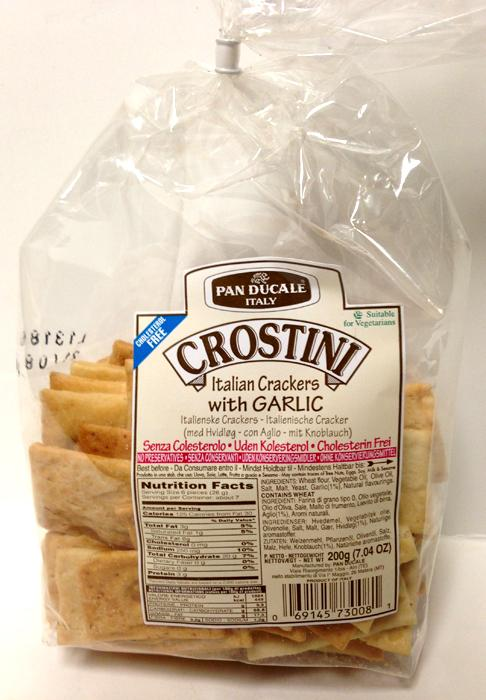 Crostini Italian Crackers with Garlic, 200g