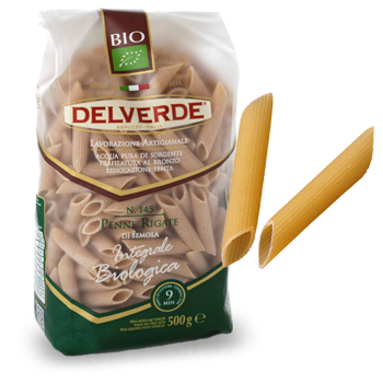 Delverde Organic Whole Grain Penne Rigate