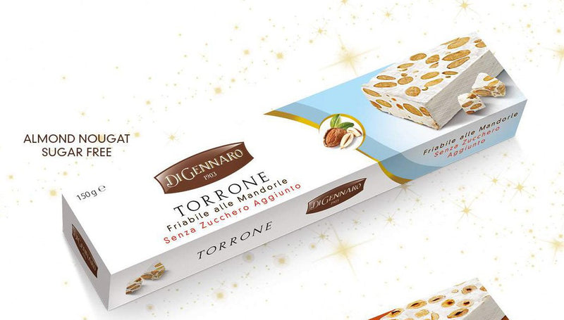 DiGennaro Torrone Almonds Hard No Sugar Added, 150g