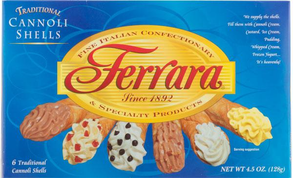 Ferrara Traditional Large Cannoli Shells, 4.5 oz (6 Shells)