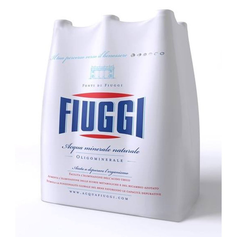 Fiuggi Natural Mineral Water FULL Case 6 x 1 Liter Bottle