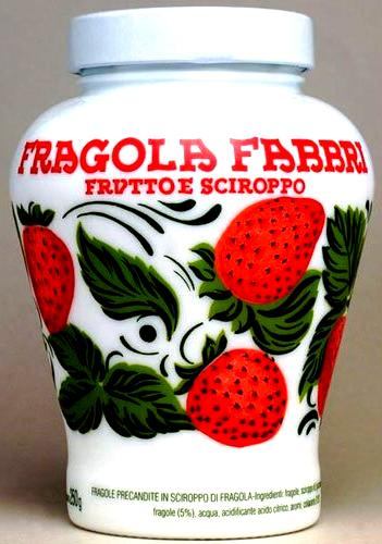 Fragola Fabbri Strawberry Fruit and Syrup