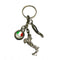 Italian Flag, Boot, and Horn for Good-luck Keychain
