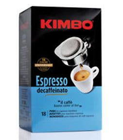 Kimbo Espresso Decaf Coffee, 18 Pods