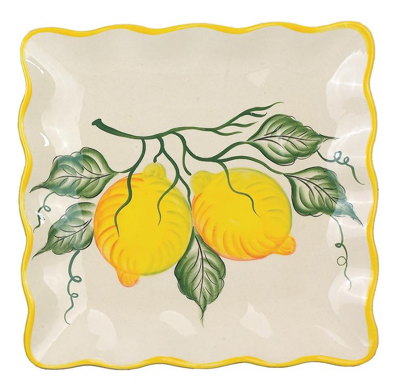 Lemon Design Square Plate 11""