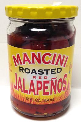 Mancini Roasted Red Jalapenos, 12 fl oz