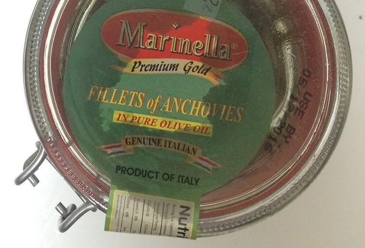 Marinella Fillets of Anchovies in Pure Olive Oil, 560g jar