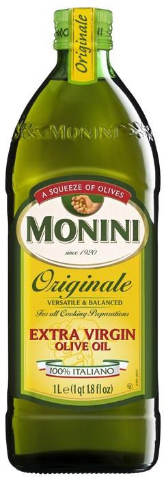 Monini Originale Extra Virgin Olive Oil 100% Italian, 1 LT