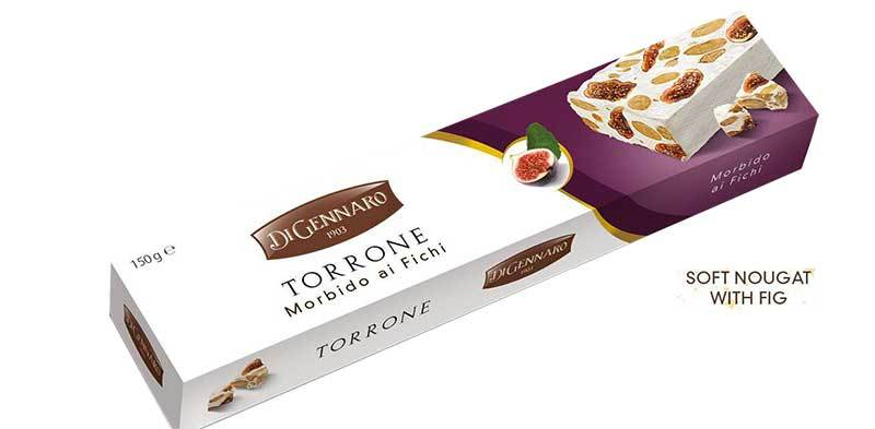 DiGennaro Torrone Morbido Fichi (Soft w/ Almonds and Fig), 150g