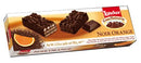 Loacker Noir Orange Dark Chocolate Biscuits, 100g