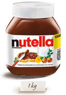 Ferrero Nutella Made in Italy, 1000g (1kg) Glass Jar