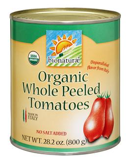 Bionaturae Organic Whole Peeled Tomatoes, 28.2 oz.