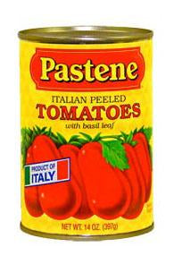 Pastene Italian Peeled Tomatoes 14 oz. Can