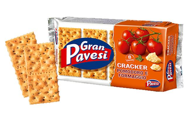 Pavesi Tomato and Cheese Crackers, 250g