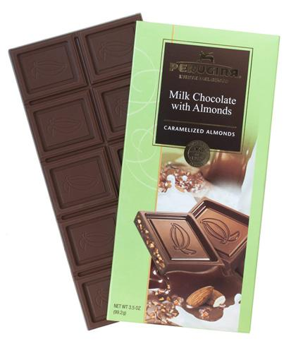 Perugina Milk Chocolate with Almonds, 3.5 oz