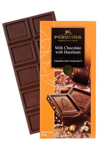 Perugina Milk Chocolate with Hazelnuts, 3.5 oz